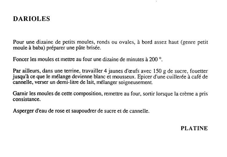Les Darioles -  Darioles
